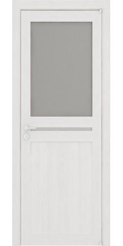 Межкомнатная дверь экошпон со стеклом Uberture 2109/1 капучино велюр