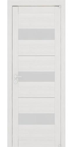 Дверь межкомнатная Uberture 2126 со стеклом экошпон цвет капучино велюр