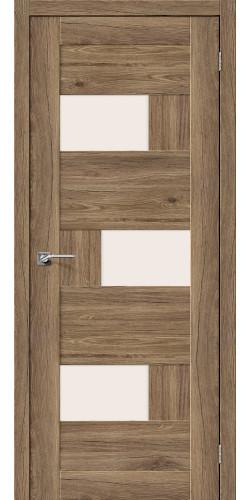 Межкомнатная дверь экошпон со стеклом Легно-39 Original Oak