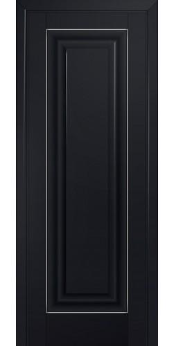 Дверь межкомнатная экошпон глухая 23U цвет черный матовый