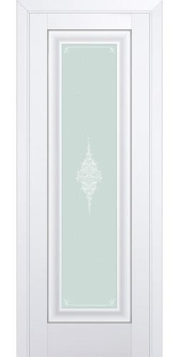 Межкомнатная дверь экошпон со стеклом 24U аляска