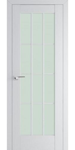 Межкомнатная дверь экошпон со стеклом 102Х пекан белый