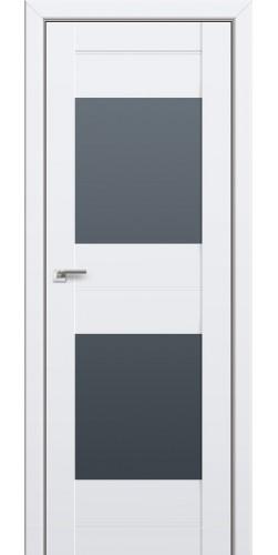 Межкомнатная дверь экошпон со стеклом 61U аляска