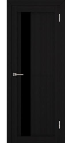 Дверь межкомнатная Uberture 30004 со стеклом экошпон цвет шоко велюр