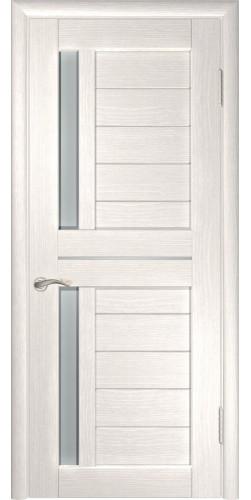Межкомнатная дверь экошпон со стеклом ЛУ-27 Беленый дуб