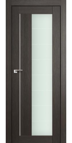 Дверь межкомнатная экошпон со стеклом 47Х цвет мелинга грей