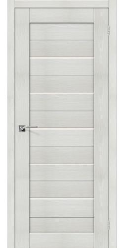 Дверь межкомнатная экошпон со стеклом Порта 22 цвет Bianco veralinga