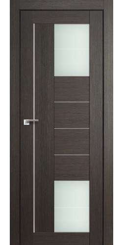 Дверь межкомнатная экошпон со стеклом 43Х цвет мелинга грей