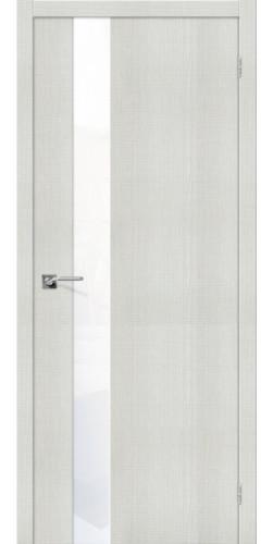 Дверь межкомнатная экошпон со стеклом Порта 51 цвет Bianco Crosscut WW