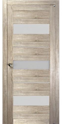 Дверь межкомнатная Uberture 2126 со стеклом экошпон цвет серый велюр