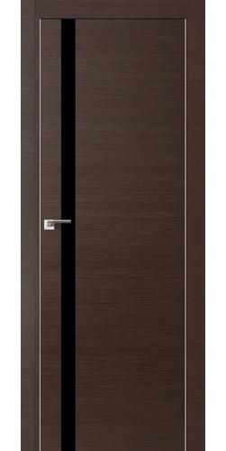 Межкомнатная дверь экошпон 6Z венге кроскут чёрный лак