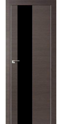 Межкомнатная дверь экошпон 5Z грей кроскут черный лак