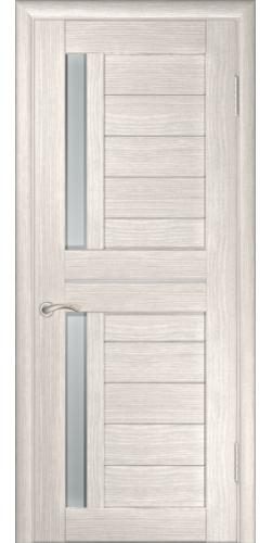 Дверь межкомнатная экошпон со стеклом ЛУ-27 капучино