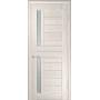 Межкомнатная дверь экошпон со стеклом ЛУ-27 капучино