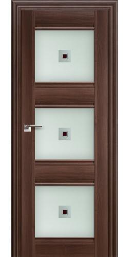 Дверь межкомнатная экошпон со стеклом 4Х цвет орех сиена