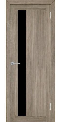 Дверь межкомнатная Uberture 30004 со стеклом экошпон цвет серый велюр
