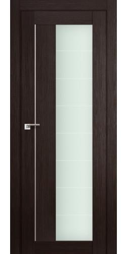 Дверь межкомнатная экошпон со стеклом 47Х цвет венге мелинга