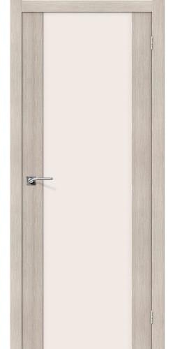 Межкомнатная дверь со стеклом Порта 13 Cappuccino veralinga