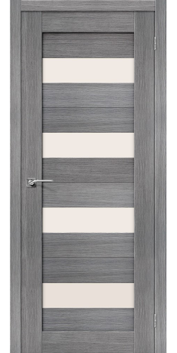 Дверь межкомнатная экошпон со стеклом Порта 23 цвет Grey veralinga