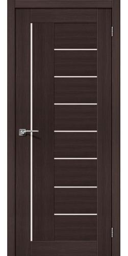 Дверь межкомнатная экошпон со стеклом Порта 29 цвет Wenge veralinga