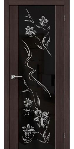 Межкомнатная дверь экошпон S 13 print Wenge Veralinga