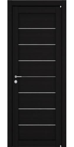 Межкомнатная дверь экошпон со стеклом Uberture 2125 шоко велюр