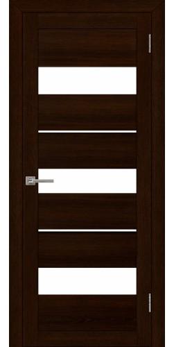 Межкомнатная дверь экошпон со стеклом Uberture 2126 дуб шоколадный