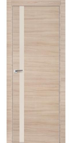 Межкомнатная дверь экошпон 6Z капучино кроскут перламутровый лак