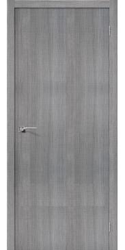 Дверь экошпон Порта 50 ПГ Grey Crosscut