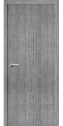 Дверь межкомнатная экошпон глухая Порта 50 цвет Grey Crosscut