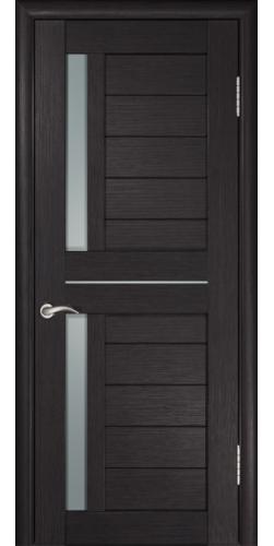 Межкомнатная дверь экошпон со стеклом ЛУ-27 венге