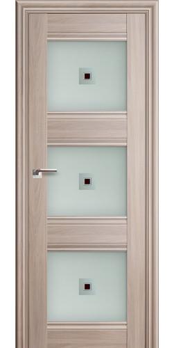 Дверь межкомнатная экошпон со стеклом 4Х цвет орех пекан