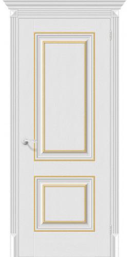 Дверь межкомнатная экошпон глухая Классико-32G-27 цвет Virgin