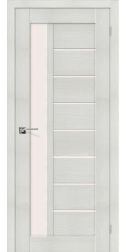 Межкомнатная дверь экошпон со стеклом Порта-27 Bianco Veralinga