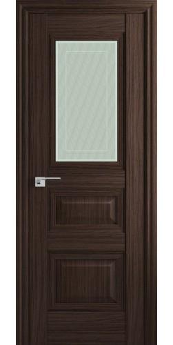 Межкомнатная дверь экошпон со стеклом 83Х натвуд натинга