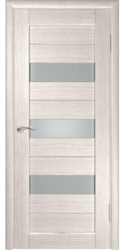 Межкомнатная дверь экошпон со стеклом ЛУ-23 Капучино