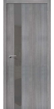 Дверь экошпон Порта 51 ПО Grey Crosscut S