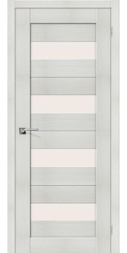 Дверь межкомнатная экошпон со стеклом Порта 23 цвет Bianco veralinga