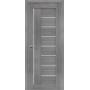 Дверь межкомнатная экошпон со стеклом Порта 29 цвет Grey veralinga