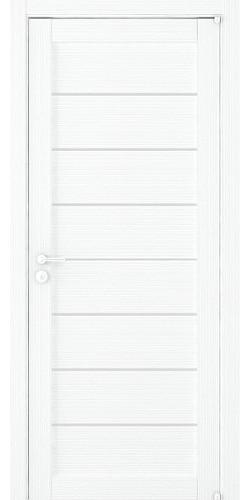 Дверь межкомнатная Uberture 2125 со стеклом экошпон цвет белый велюр