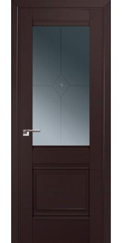 Межкомнатная дверь экошпон 2U тёмно-коричневый