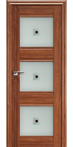 Дверь межкомнатная экошпон со стеклом 4Х цвет орех-амари