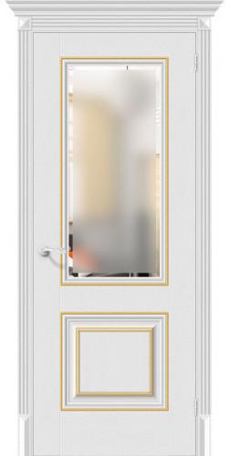 Межкомнатная дверь экошпон со стеклом Классико-33G-27 Virgin