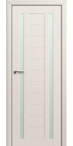 Межкомнатная дверь экошпон со стеклом 15U магнолия сатинат