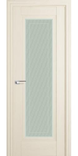 Межкомнатная дверь экошпон со стеклом 85Х белый ясень
