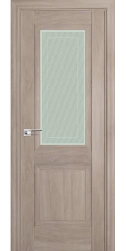 Межкомнатная дверь экошпон со стеклом 81Х орех пекан