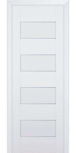 Межкомнатная дверь экошпон со стеклом 45U аляска
