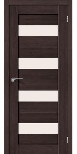 Межкомнатная дверь экошпон со стеклом Порта 23 Wenge veralinga