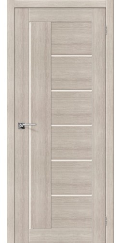 Дверь межкомнатная экошпон со стеклом Порта 29 цвет Cappuccino veralinga