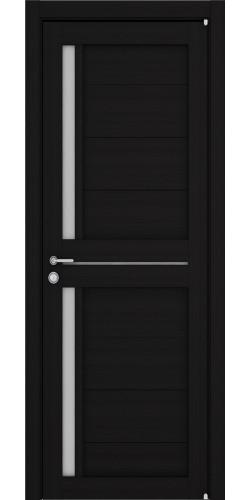Дверь межкомнатная Uberture 2121 со стеклом экошпон цвет шоко велюр